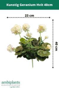Bilde av Kunstig Geranium Hvit 40cm