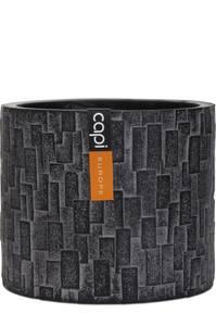 Bilde av Capi Indoor Steinpotte Sylinder Sort 17cm